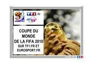 partenaires et sponsors officiels coupe du monde de la fifa 2010 - TF1