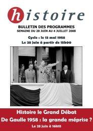 Histoire le Grand Débat De Gaulle 1958 : la grande méprise ? - TF1