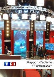 Rapport d'activité - 1er trimestre 2007 - TF1