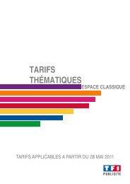 TARIFS THÉMATIQ QUES - Tf1