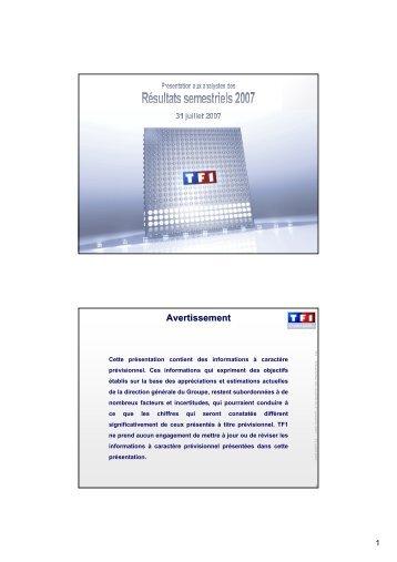 Présentation - TF1