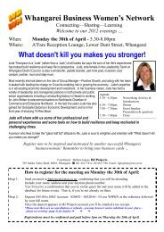 Whangarei Business Women's Network What doesn't kill you makes ...