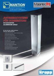 antriebssysteme für schiebetore in eleganter aluminium-säule