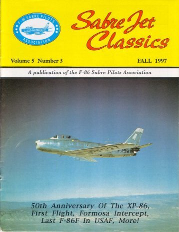 Volume 5 Number 3 Fall 1997 - Sabre Pilots Association