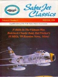 Volume 6 Number 3 Winter 1998 - Sabre Pilots Association