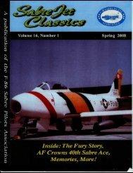 Volumn 16 Number 1 Spring 2008 - Sabre Pilots Association