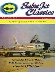 Volume 8 Number 1 Spring 2000 - Sabre Pilots Association