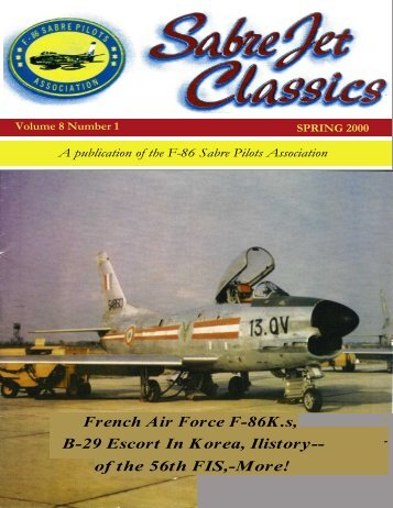 Volume 8 Number 1 Spring 2000 - Sabre Pilots Association