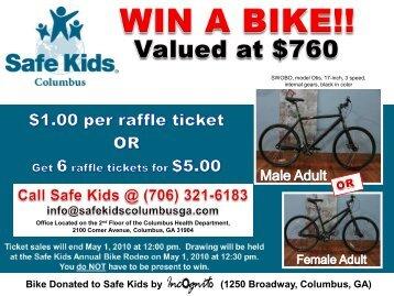 Bike Donated to Safe Kids by o (1250 Broadway, Columbus, GA)