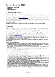 Dezember Newsletter 5/2011 - sbam