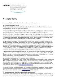 Newsletter 4 / 2012 - sbam