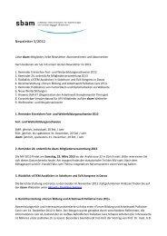 Newsletter 5 / 2012 - sbam