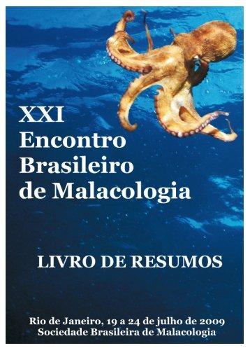 XXI ENCONTRO BRASILEIRO DE MALACOLOGIA - Sociedade ...