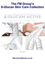 The FM Group's ß-Glucan Skin Care Collection - ScentsForYou