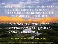 Índice de Indicadores de Calidad Ambiental para Frontera 2012