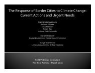 The Response of Border Cities to Climate Change: Current Actions ...