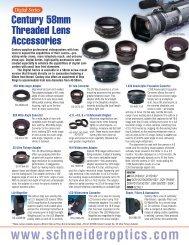 Century 58mm threaded lens accessories - Schneider Optics