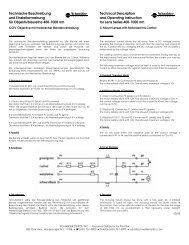 Technische Beschreibung - Schneider Optics
