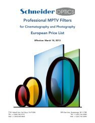 MPTV Euro Price List - Schneider Optics