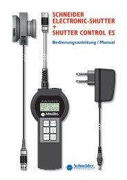 Bedienungsanleitung Shutter x.indd - Schneider Optics