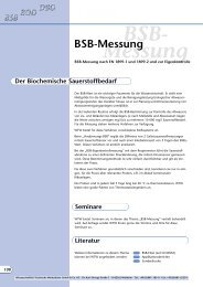 BSB- Messung - Aquacare Gmbh & Co. KG