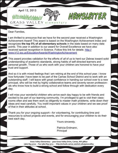 Grass Valley News-April 12, 2013 - Camas School District