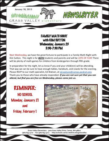 Grass Valley News-January 18, 2013 - Camas School District