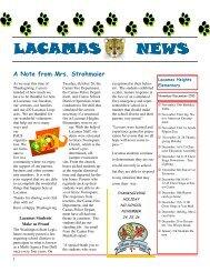 November Newsletter 2010 - Camas School District