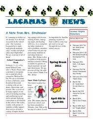 February Newsletter 2011 - Camas School District