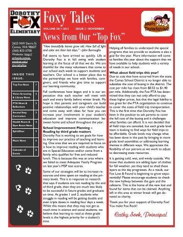 foxy-tales-november-2011 - Camas School District
