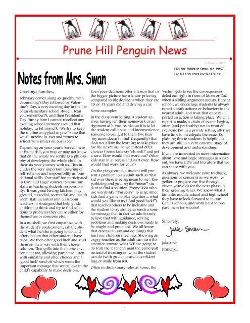 Penguin News February 2012 - Camas School District