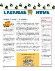 November Newsletter 2011 - Camas School District