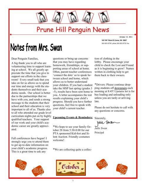 Penguin News October 13, 2011 - Camas School District