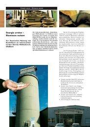 Energie ernten – Biomasse nutzen Zur thermischen Nutzung von ...