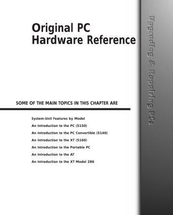 Original PC Hardware Reference