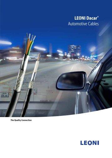 LEONI Dacar® Data Transmission Cables