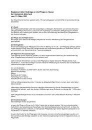 Reglement über Beiträge an die Pflege zu Hause - Gemeinde ...