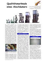 Qualitätsmerkmale eines Abschäumers - Aquacare Gmbh & Co. KG