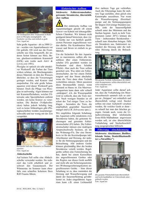 Wissen rund um das Meerwasseraquarium - Aquacare Gmbh & Co ...