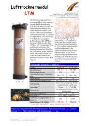 Lufttrocknermodul LTM - Aquacare Gmbh & Co. KG