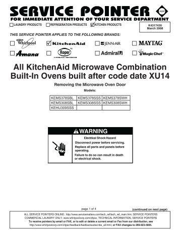 Kitchenaid Microhood kitchenaid microhood combination (mhc) oven