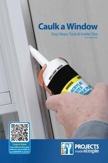 Caulk a Window - Walmart