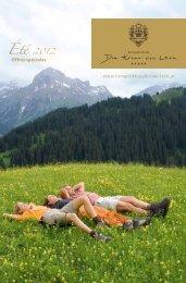 Offres spéciales www.romantikhotelkrone-lech.at