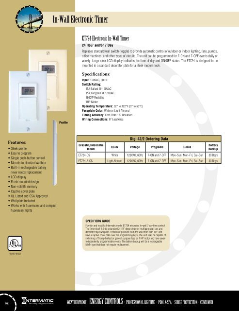 intermatic digital timer wiring diagram in wall electronic timer  in wall electronic timer