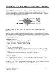 ARBORITE® FLEX 4 – HIGH PRESSURE DECORATIVE LAMINATES