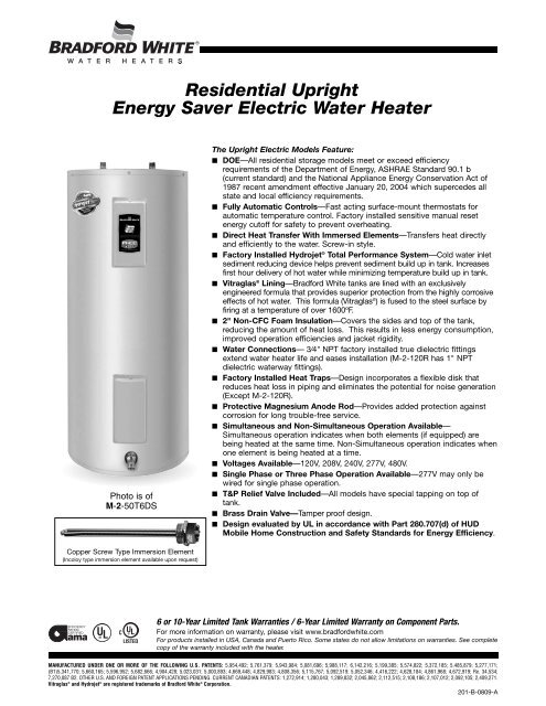 Wiring Diagram For A Bradford White Water Heater