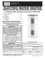 electric water heater installation and operating ... - Scuka Enterprises