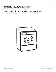 TUMBLE ACTION WASHER MACHINE À LAVER PAR CULBUTAGE