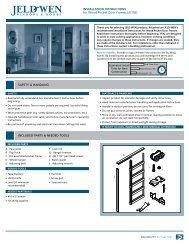 INSTALLATION INSTRUCTIONS for Wood Pocket Door Frames ...
