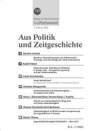 Aus Politik und Zeitgeschichte Aus Politik und Zeitgeschichte
